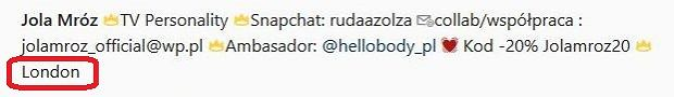 Instagram Joli Mróz