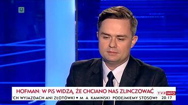 Adam Hofman w TVP Info
