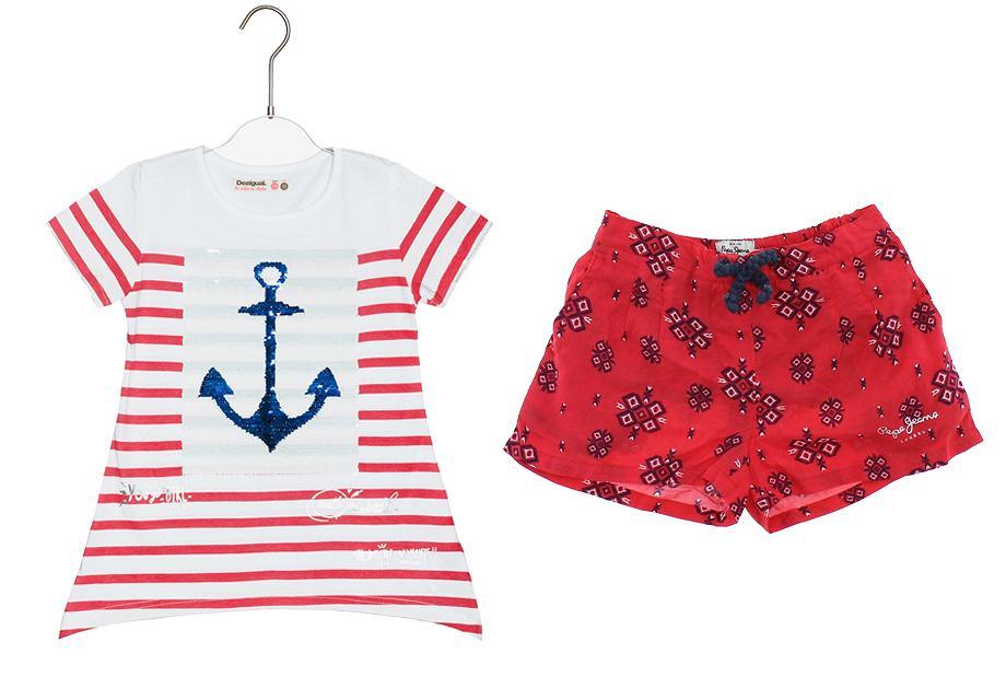 Szorty na lato i koszulki dla dziewczynki