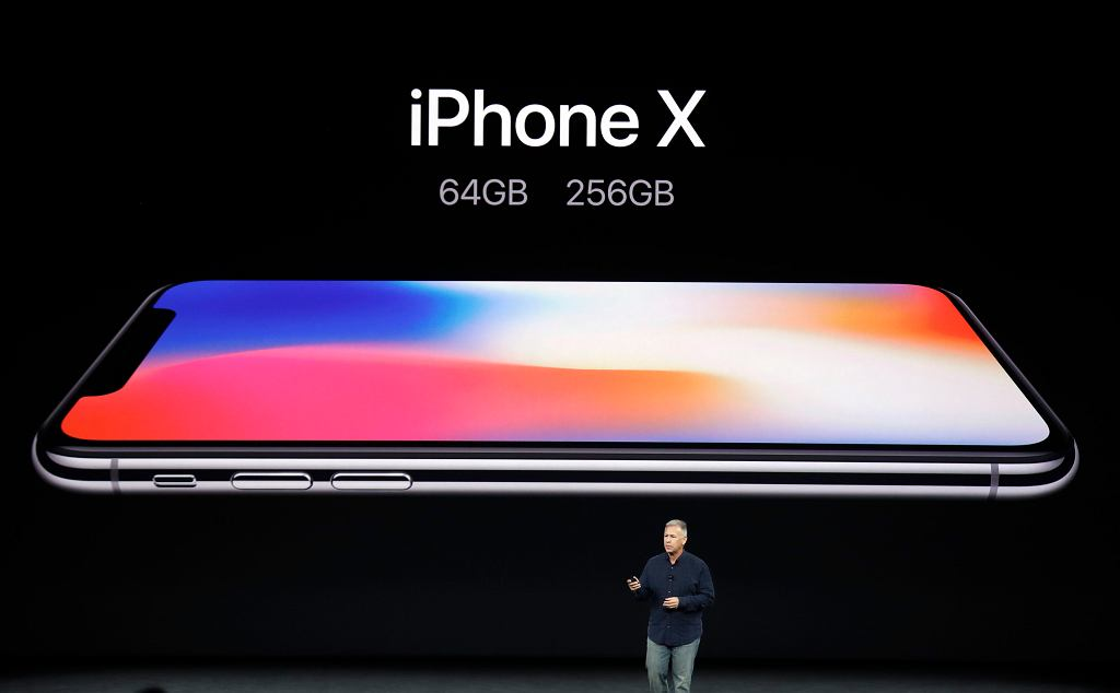 Phil Schiller, Apples senior vice president of worldwide marketing, discusses features of the new iPhone X at the Steve Jobs Theater on the new Apple campus on Tuesday, Sept. 12, 2017, in Cupertino, Calif.