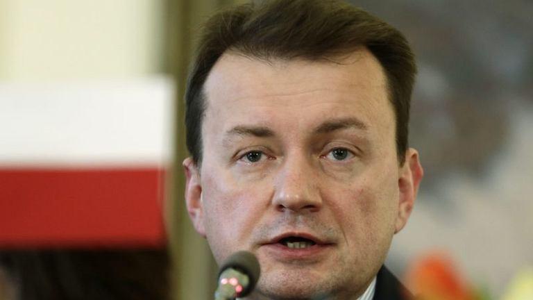 Szef MSW Mariusz Błaszczak