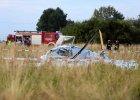 Wypadek B��kitnego24 na Air Show Radom