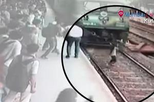 19-latka wpadła pod nadjeżdżający pociąg w Bombaju. Cudem przeżyła [WIDEO]