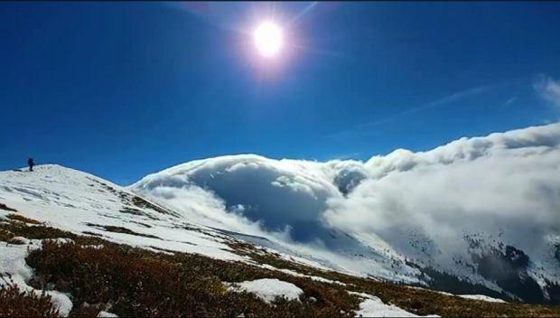"""Uchwycili niezwykłe zjawisko nad Tatrami. """"Często wędruję, ale czegoś takiego jeszcze nie widziałam"""""""