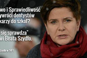 Beata Szydło zapowiada, że do szkół wrócą dentyści i lekarze