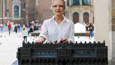Małgorzata Wassermann na krakowskim Rynku