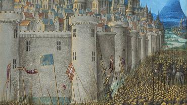 XV-wieczny obraz nieznanego autora przedstawiający oblężenie Antiochii przez wojska krzyżowców. Trwało od października 1097 do czerwca 1098 r. i po ciężkich bojach zakończyło się zwycięstwem oblegających. Krzyżowcy zdobyli twierdzę dzięki zdradzie jednego z obrońców