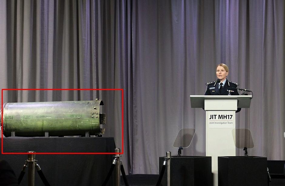 Konferencja, na której zaprezentowano fragment rakiety z rosyjskiego zestawu BUK