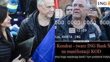 Antonina Kondrat i Marek Kondrat na marszu KOD