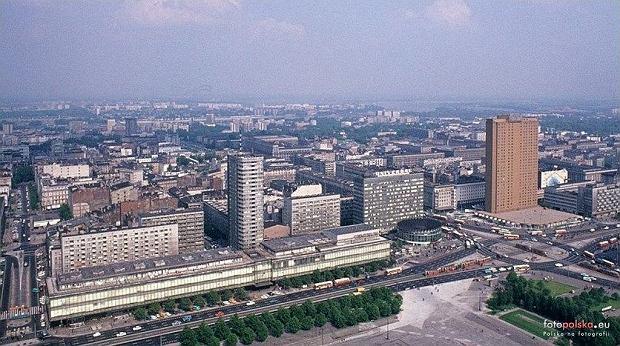 Panorama Warszawy - widok na hotel Forum