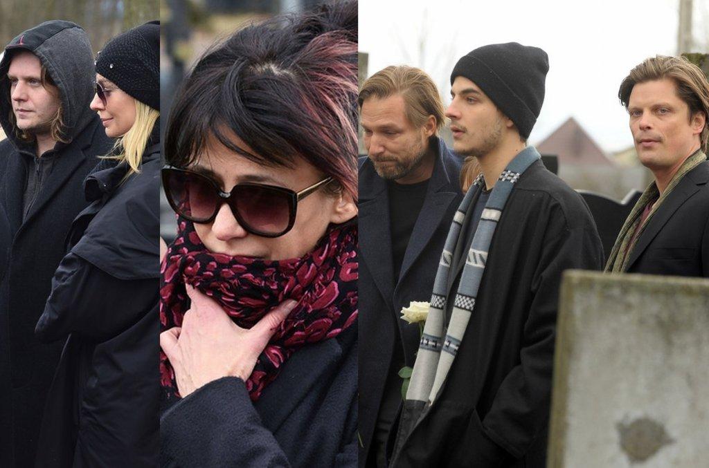 Zdjęcie numer 1 w galerii - Pogrzeb Andrzeja Żuławskiego. Reżysera żegna rodzina i najbliżsi. Przyjechała Sophie Marceau i synowie