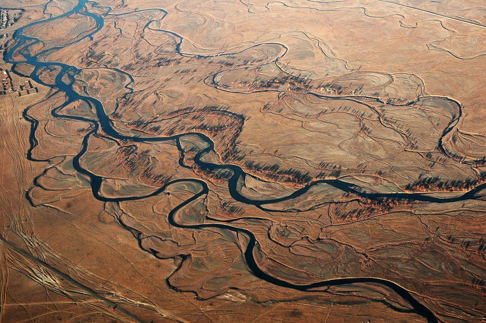 Pustynia Gobi widziana z lotu ptaka, Mongolia / fot. Shutterstock
