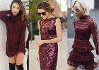 Bordowe sukienki przełamane szarością, zobacz jak je wykorzystać w jesiennych stylizacjach