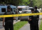 Policja na miejscu zabójstwa