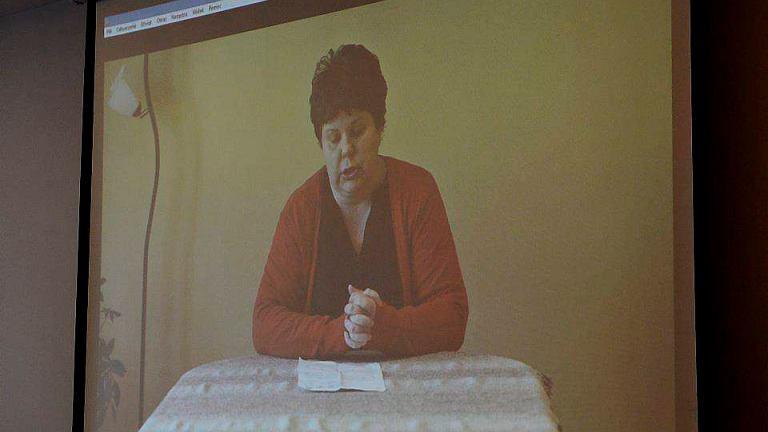 Agata Rejman na konferencji nie wystąpiła, ale pokazano nagranie z jej udziałem