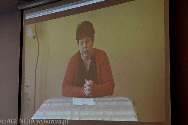 Agata Rejman na konferencji nie wyst�pi�a, ale pokazano nagranie z jej udzia�em