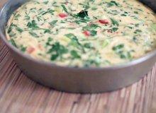 Puszysty omlet z serem i szynką - ugotuj