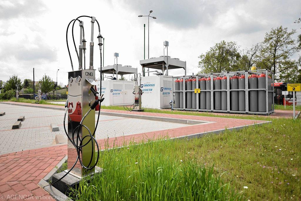 Stacja tankowania gazu CNG w zajezdni MPK Częstochowa