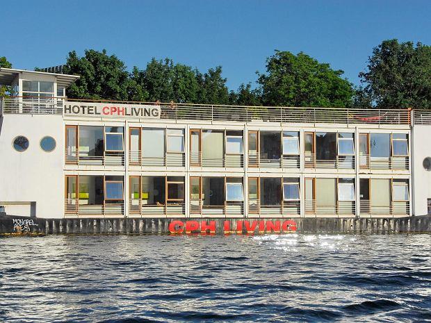 Pływający hotel w Kopenhadze