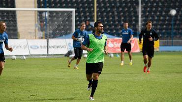 Ioannis Masmanidis na treningu Zawiszy