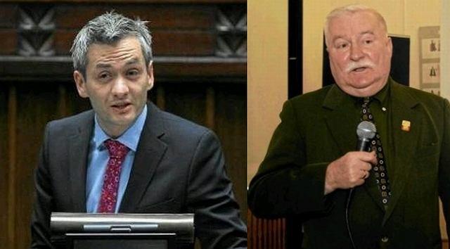 Robert Biedroń i Lech Wałęsa