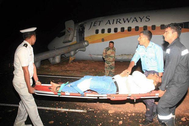 Samolot wypadł z pasa startowego. Pasażerowie przeżyli chwile grozy