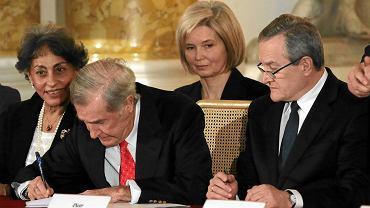 Uroczystość podpisania umowy dotyczącej uregulowania statusu kolekcji Książat Czartoryskich