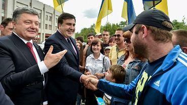 Były prezydent Gruzji Michaił Saakaszwili i prezydent Ukrainy Petro Poroszenko