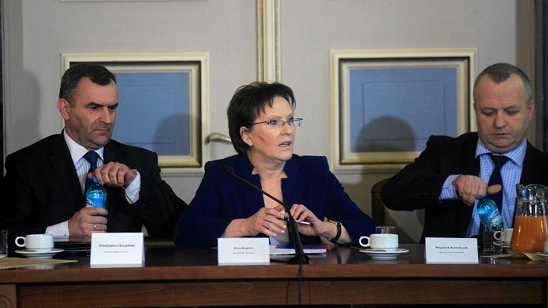 Premier Ewa Kopacz na spotkaniu z przedstawicielami górników