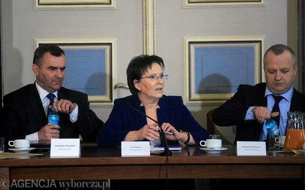 Premier Ewa Kopacz na spotkaniu z przedstawicielami g�rnik�w