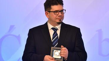 Wojciech Wencel z nagrodą 'Zasłużony dla polszczyzny', Międzynarodowy Dzień Języka Ojczystego w Pałacu Prezydenckim, 21 lutego 2017