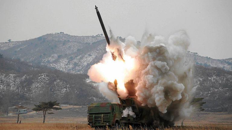 Testy pocisków rakietowych w Korei Północnej