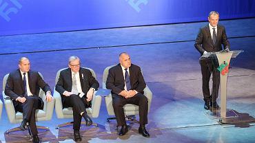 Przewodniczący Rady Europejskiej Donald Tusk przemawia podczas szczytu w Sofii, 11 stycznia 2018.