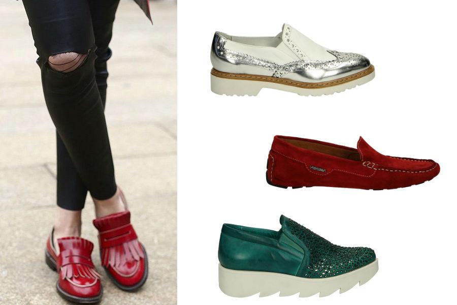 Kolorowe loafery