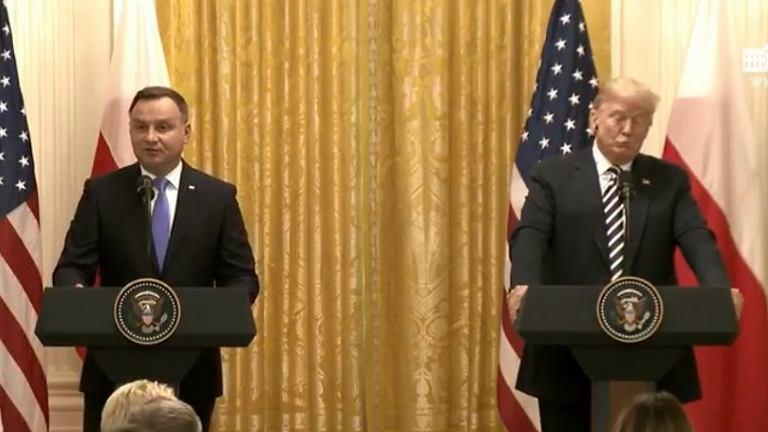 Donald Trump w dobrym humorze po słowach Dudy o Fort Trump
