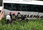 Poronin: Autobus z Zakopanego wpad� do rowu