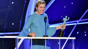 Frances McDormand z nagrodą Gildii Aktorów Ekranowych za rolę w filmie 'Trzy billboardy za Ebbing, Missouri'