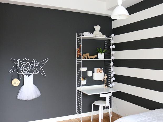 Czarno-biały pokój dla dziewczynki