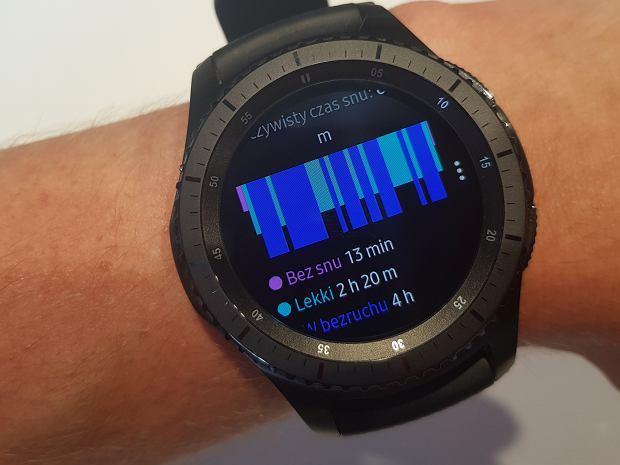 Samsung Gear s3 - analiza snu