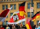 Marsz zwolennik�w skrajnie prawicowej partii NPD