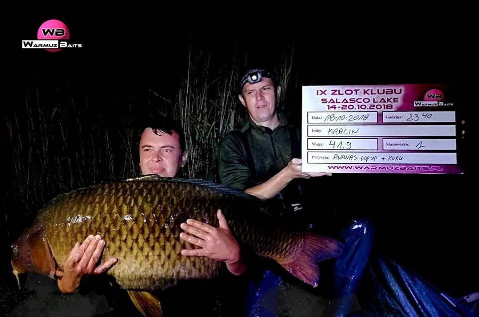 Salasco Lake. Karp 41,9 kg