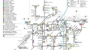 Sieć tramwajowa w dniu 1 listopada