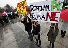 Protest nauczycieli przeciw reformie edukacji. Manifestacja, jakiej szkoła nie pamięta