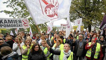 Protest nauczycieli w 2016 r.