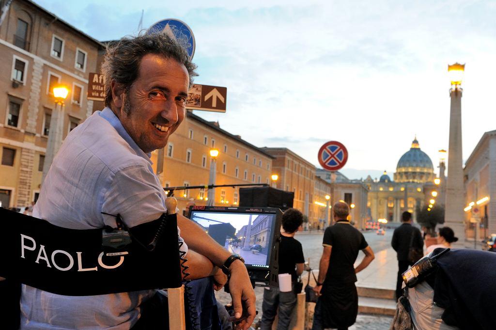 Paolo Sorrentino na planie serialu 'Młody papież' / Fot. materiały prasowe