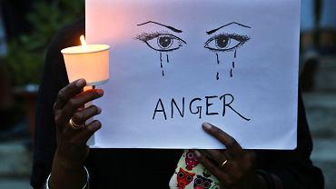 Protest przeciwko przemocy wobec kobiet w indyjskim Bangalurze, 16 kwietnia 2018 r.