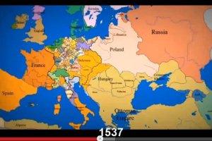 Gdzie Rzym, a gdzie Krym? Nowy hit internetu: 1000 lat zmieniających się granic w Europie w 3 minuty [WIDEO]