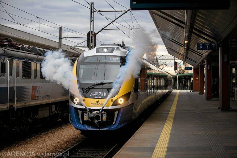 Przekazanie pociągu Impuls Kolejom Małopolskim