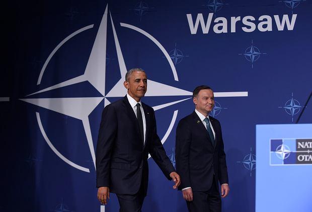 Szczyt NATO. Obama: Powiedzia�em szczerze prezydentowi Dudzie, �e Ameryk� niepokoj� dzia�ania wobec Trybuna�u