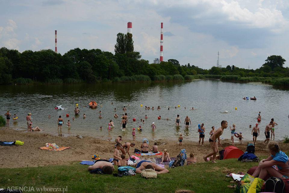 Plaża nad Jeziorkiem Czerniakowskim